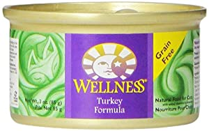 Wellness Canned Cat Food, Turkey Recipe, 3-Ounce Cans, Pack of 24