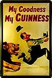 【 アメリカンブリキ看板 】 ギネスビール GUINNESS BEER My Goodness My GUINNESS サイズ:約20センチ×約30センチ。