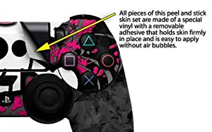 Girly Skull Bones - Decal Style Wrap Skin fits Sony PS4 Dualshock 4 Controller - CONTROLLER NOT INCLUDED
