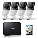 Zmodo 720p HD Wireless Smart Home Surveillance Camera System - 4 Camera, 4CH NVR with 500GB Hard Drive