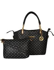 Meow Wings Women's Sling Bag In Bag Black Handbag