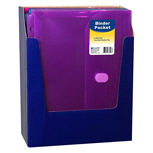 C-Line Super Heavyweight Poly Binder Pocket With Velcro