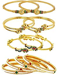 Penny Jewels Antique Fashion Designer Latest Designer Bangles Set For Women & Girls (Pack Of 10)