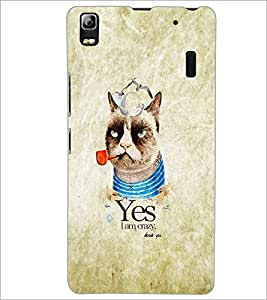 PrintDhaba Funny image D-4628 Back Case Cover for LENOVO A7000 TURBO (Multi-Coloured)