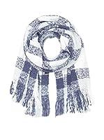 Zwillingsherz Bufanda Big Karo (Azul / Blanco)
