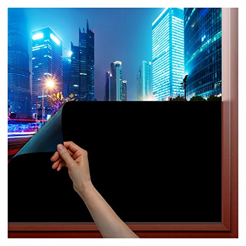 BDF 1BKOT Window Film Blackout Non Adhesive Static Cling - 36in X 7ft (Temporary Window Tint compare prices)