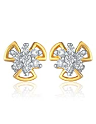 Mahi Gold Plated Mania Earrings With CZ For Women ER1103806G