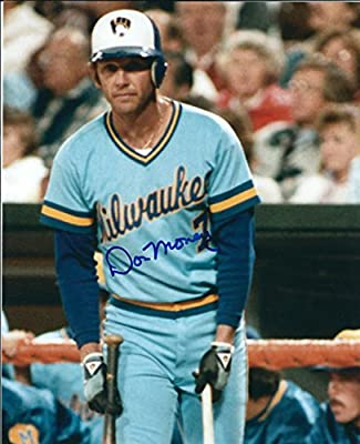 Autographed Don Money 8X10 Photo Milwaukee Brewers