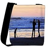 Snoogg beach people Womens Carry Around Cross Body Tote Handbag Sling Bags