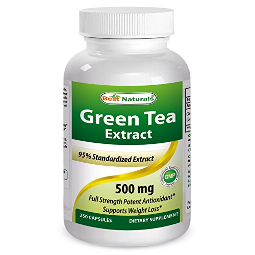 #1 Green Tea Extract 500 Mg 250 Capsules By Best Naturals - Powerful Free Radical Scavenger - Fat Burning Formula Can Assist With Weight Loss - Increased Metabolism - Manufactured In A Usa Based Gmp Certified And Fda Inspected Facility And Third Party Tes