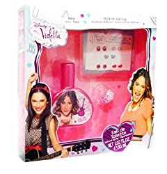 Disney Violetta Gift Set With Eau De Toilette Spray 1 Oz, Ring, And Stick On Earrings For Girls