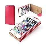 Outstanding Value Iphone 6 más (5,5 pulgadas) de cuero rosa fuerte tirón cubierta de la caja con dos ranura para tarjeta para Apple Iphone 6 más (5,5 pulgadas)