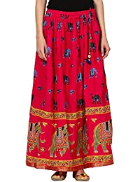 Saadgi Rajasthani Hand Block Printed Handcrafted Ethnic Lehnga Skirt For Women/Girls - B06XG2PQG2