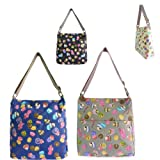 New Collection Girly Handbags Cupcakes Cookies Canvas Shoulder Messenger Bag School Bag College Strap Pockets