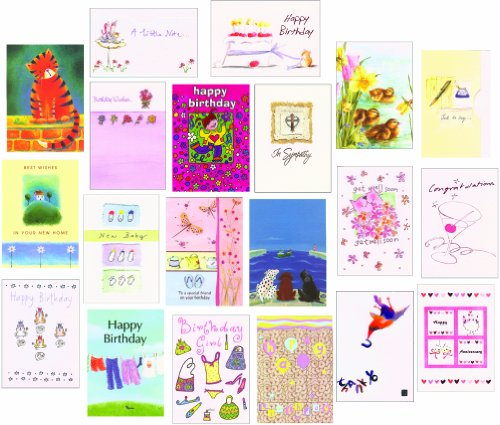 Bumper Variety Pack 20 Mixed Birthday Greeting Cards