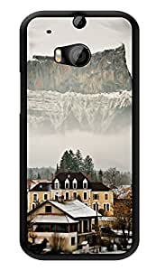 """Humor Gang High Altitude Hills And Houses Printed Designer Mobile Back Cover For """"HTC ONE M8 - HTC ONE M8S"""" (3D, Glossy, Premium Quality Snap On Case)"""