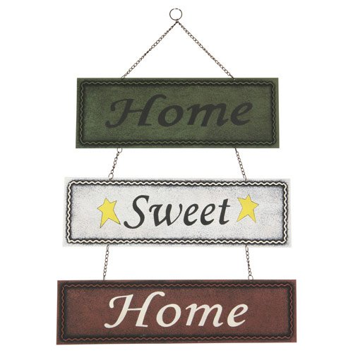 Rustic Tin Sign: Home Sweet Home, 18.5-inch (Wall