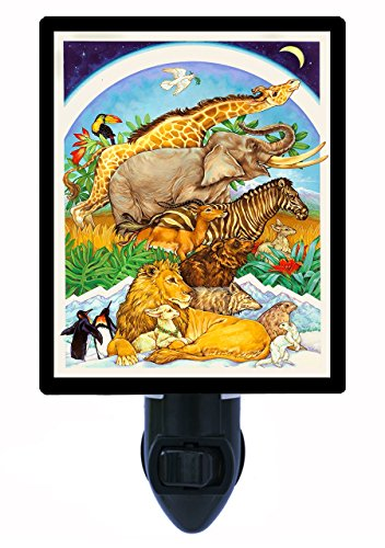Night Light - Peaceable Kingdom - Animals Led Night Light front-1016294