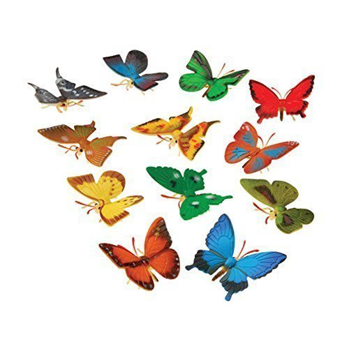US Toy Mini Butterflies Action Figure (12 Pack)
