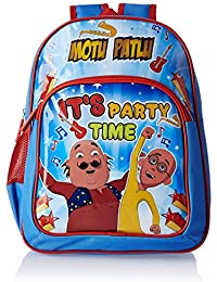 Motu Patlu Blue And Red Children's Backpack (MBE - VIA011)
