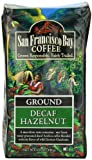 San Francisco Bay Coffee Ground Decaf Hazelnut Coffee, 12-Ounce Bag