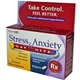Natrol Stress Anxiety Day And Nite Formula - 20 Tablets - Pack Of 1