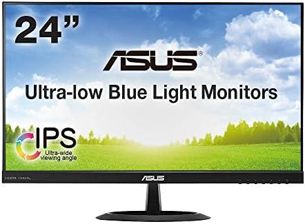 ASUS 23.8型WQHDディスプレイ ( IPS / 広視野角178°/ ブルーライト低減 / SRGBカバー / HDMI×2,D-sub×1 / スピーカー内蔵 / 3年保証 ) VX24AH