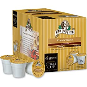 Van Houtte French Vanilla Caffeinated Coffee for Keurig Brewing Systems - 108 K-Cups