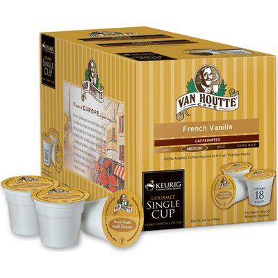 chocolate drinks: Van Houtte K-Cup Single-Serving Coffee 108-ct. – French Vanilla