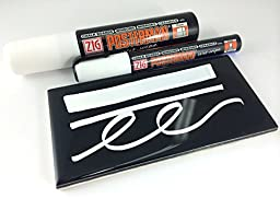 Chalkboard Marker Wet Wipe! Set/2 15mm Wide and 6mm Narrow