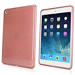 iPad mini with Retina display Case, BoxWave [GlassWorks Crystal Slip] Glossy, Flexible, Low Profile Case for Apple iPad mini with Retina display, 3 - Rose Gold