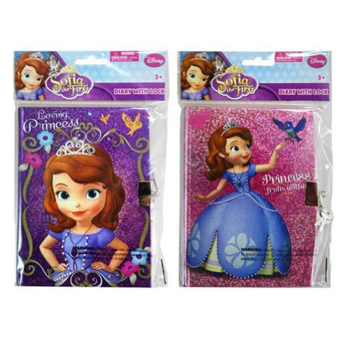 Sofia the First 50 Sheets Foil Diary W/lock in Polybag with Header