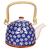 Purpledip Beautifully painted Ceramic Kettle (10146)