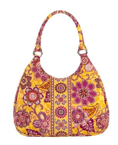 Vera Bradley Bali Gold Large Hobo Bag Purse
