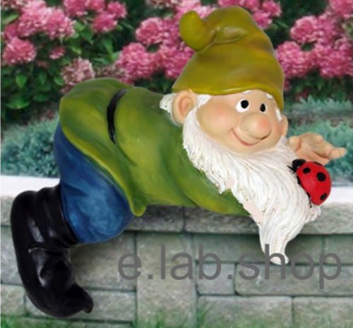 Garden Gnome Laying On Wall