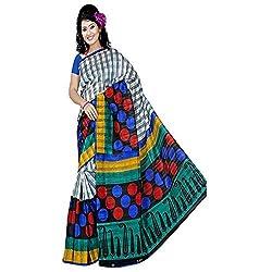 Pawan Tex Bhagalpuri sree for women's (Bhagalpurimix05_multi color)