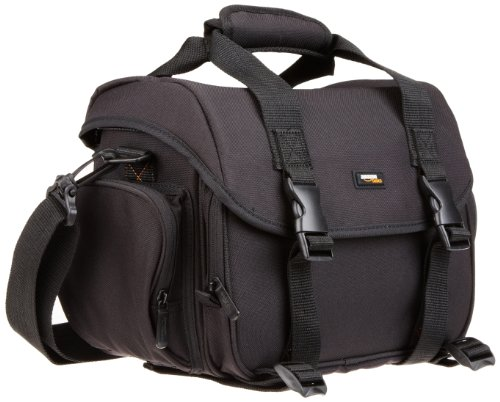 AmazonBasics DSLR Gadget Messenger Bag Large with Grey Interior