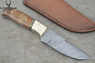 Christmas Gift by Leather-n-dagger  Professional High Quality Custom Handmade Damascus Steel Hunting
