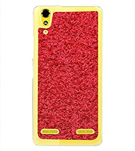 Bright Red Thread Pattern 2D Hard Polycarbonate Designer Back Case Cover for Lenovo A6000 Plus :: Lenovo A6000+ :: Lenovo A6000
