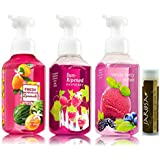 Bath & Body Works Gentle Foaming Hand Soap SUMMER SWEETS Variety - Fresh Watermelon Lemonade, Sun-Ripened Raspberry...