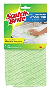 Scotch-Brite Premium Kitchen Cleaning Cloth, 1 Cleaning Cloth, Microfiber, Assorted Colors, (9035-1)