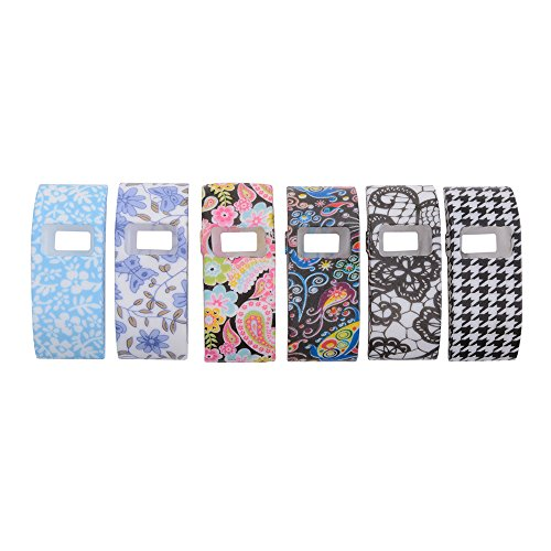XCSOURCE 6pcs Colorful Band Cover Slim Designer Sleeve Protector for Fitbit Charge/Fitbit Charge HR TH430