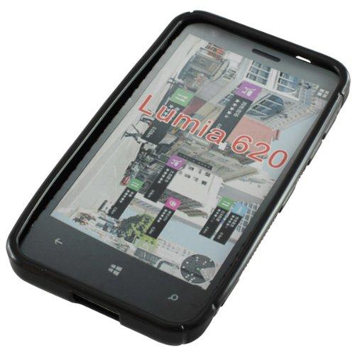 OTB TPU Case kompatibel zu Nokia Lumia 620 S-Curve schwarz