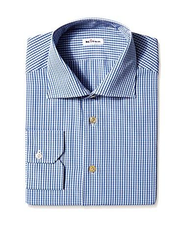 Kiton Men's Check Dress Shirt