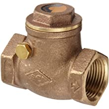 "Dixon SWCV75 Brass Horizontal Swing Check Valve,  3/4"" NPT Female"