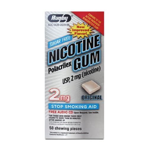 Amazon.com: RUGBY NICOTINE GUM 2MG 50 Original (Compared to Nicorette