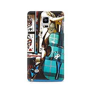 Mobicture Premium Printed Back Case Cover With Full protection For Samsung Galaxy Note 4
