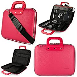 SumacLife Cady Collection Semi Hard Protective Carrying Case with Removable Shoulder Strap for 11-12in Laptops, MacBook Air, MacBook 12in, ASUS, Dell, Lenovo, Sony, HP 11.6in Laptops (Pink)