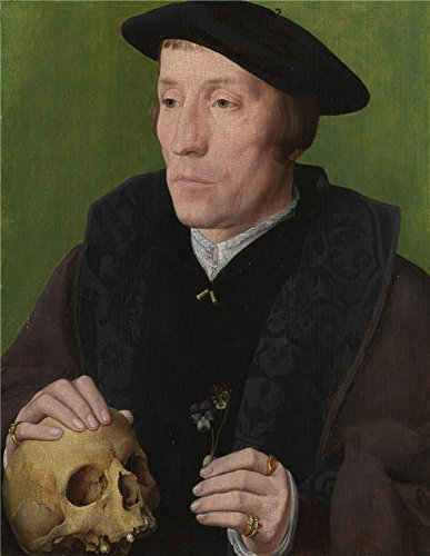 Oil Painting 'Follower Of Jan Van Scorel - A Man With A Pansy And A Skull,about 1535' 16 x 21 inch / 41 x 53 cm , on High Definition HD canvas prints is for Gifts And Game Room, Gym And Kids R decor (Wax Paper News compare prices)