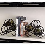 Scroll Wine Rack Bookends - Set of 2 in Black
